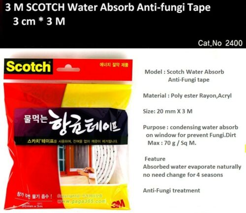 3M SCOTCH Water Absorb Anti-Fungi Tape 30 mm 3 M Keep Dry On Window Prevent Fu