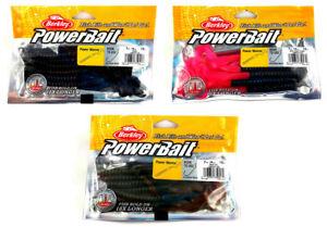13 St. Berkley Powerbait Power Worms Länge 18cm 0,47€/st Künstlicher Wurm Belebende Durchblutung Und Schmerzen Stoppen