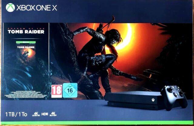 Microsoft Xbox One X 1 TB Konsole - Shadow of the Tomb Raider Bundle - neu & OVP