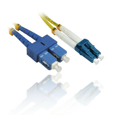 OS2 Yellow Fibre Optic LC LC Single Mode 5 125 Patch LSZH Cable 3m