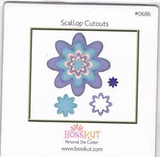 BossKut Flower scallop cutouts die use in all die cutting machines