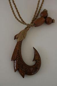 Maori Holz Carving Hei Matau Fishhook Neuseeland Gut FüR Energie Und Die Milz