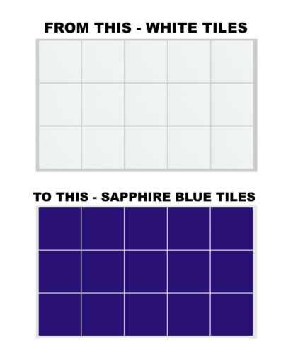 """For Kitchen Bathroom 8 Inch x 8 Inch Tile Stickers 200mm x 200mm Transfers 8/"""""""