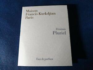 Eau de Parfum, Maison Francis Kurkdjian, feminin Pluriel, 2ml Sprühflasche