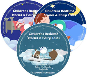 Childrens-Bedtime-Stories-X3-CD-Classic-Stories-amp-Fairy-Tales-Helps-Sleep