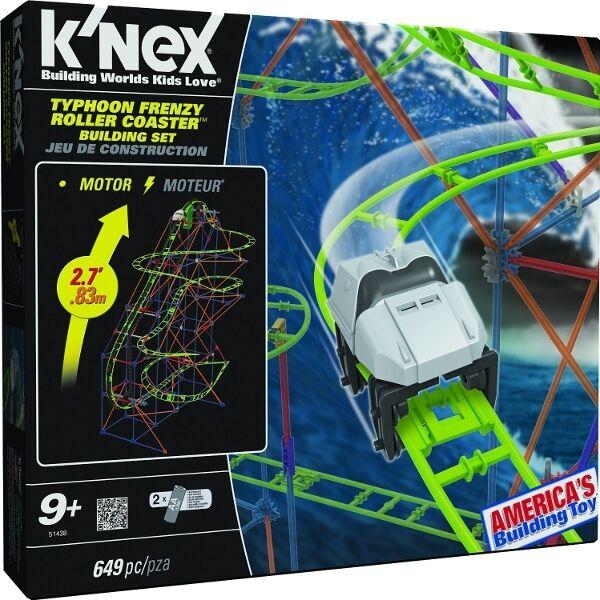 K'NEX - Typhoon Typhoon Typhoon Frenzy Roller Coaster Motorized Building Set 8a1ef3