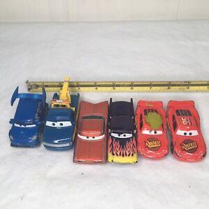 Disney-Pixar-Diecast-Cars-escala-1-55-De-Metal-Lote-de-6-vehiculos-de-juguete-en-las-fotos