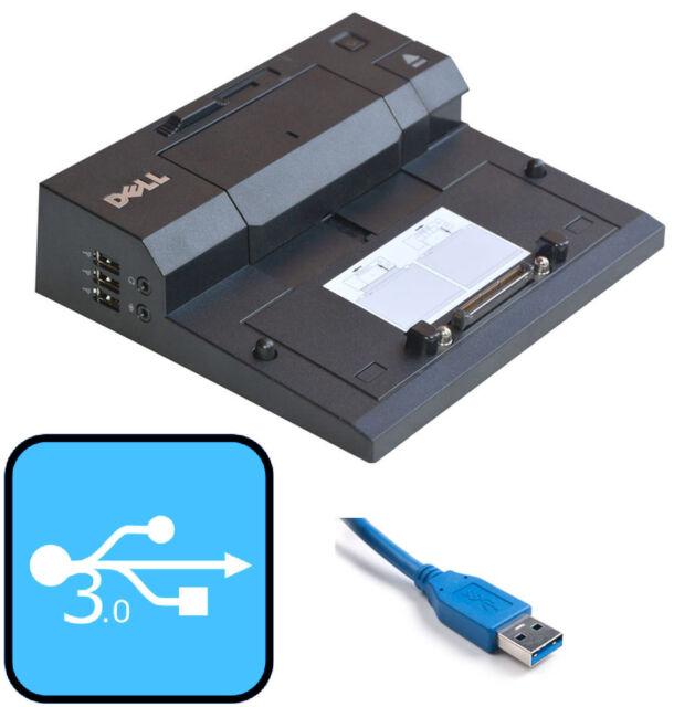 Port Replicator Dell PR03X 6TJ57 Latitude E5500 E5520 E6400 with USB 3.0 +2.0