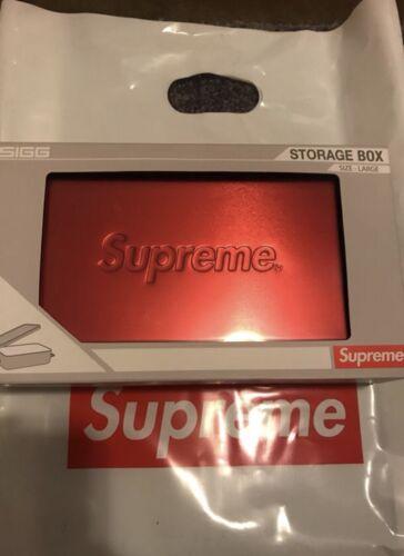 Supreme Red Sigg Metal Storage Box Large Brand New