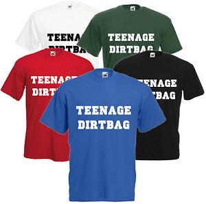 Teenage-dirtbag-Funny-T-Shirt-unisexe-bande-Retro-Hipster-tee-filles-TEEN-TOP-CADEAU