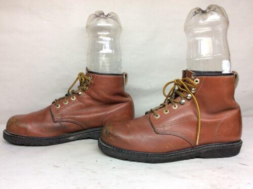 Steel Mens Dimensione pelle arancione D Sears Work Toe Stivali 5 10 in mattone Vtg qESCdw1q