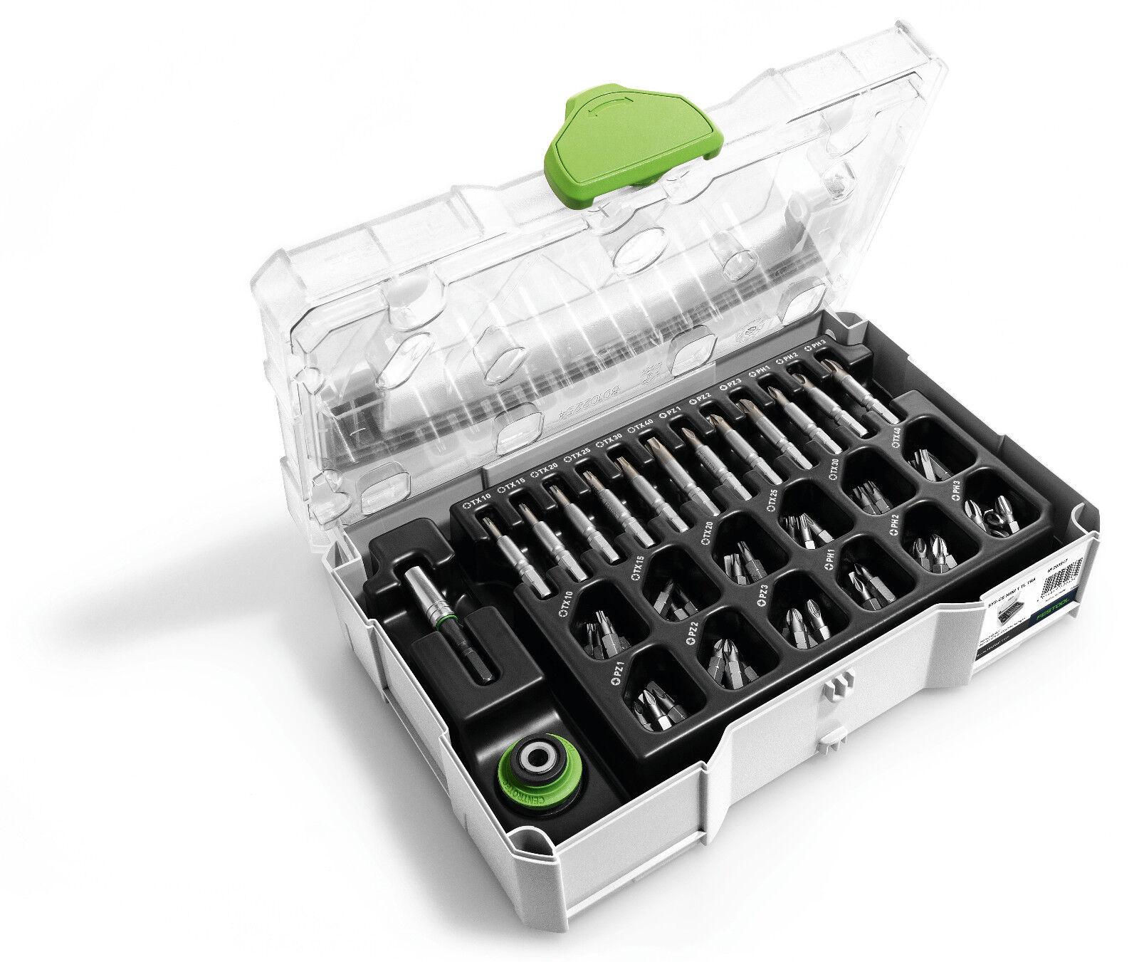 Festool MINI-SYSTAINER T-LOC MINI 1 TL  Bit Set - 203817
