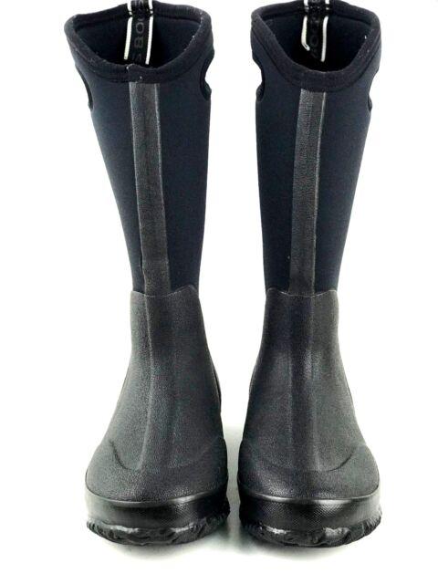Bogs Classic High Handles Womens Wellies UK 4 Black Shiny