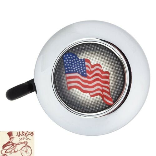 REICH AMERICAN FLAG CHROME BICYCLE BELL
