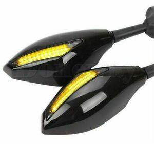 Fuer-Suzuki-GSXR-600-750-1000-GSF-1200-BANDIT-1-paar-Rueckspiegel-mit-Led-Blinker