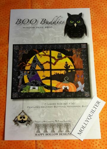 BOO BUDDIES   Happy Hollow Designs Quilt Door Greeter//Wallhanging Fall pattern