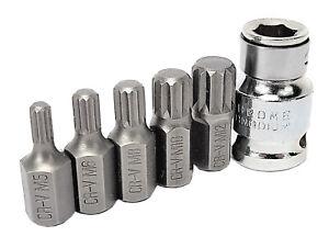 Bit Vielzahn in verschiedenen Größen M 5 6 8 10 12 auf 10 mm 6-kant
