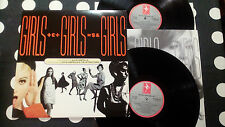 "Elvis Costello "" GIRLS GIRLS GIRLS"" 2LP D-FIEND 160 - UK 1989 - INNER"