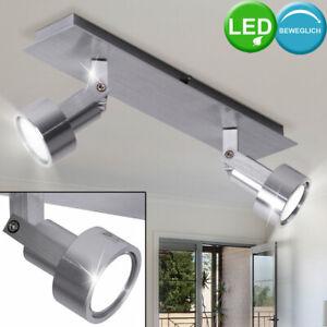 LED Wand Spot Strahler Decken Lampe Leuchte Chrom Glas beweglich Wohn Ess Zimmer