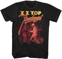 Fandango Zz Top Classic Rock Band Licensed Concert Tour Adult Black T-shirt