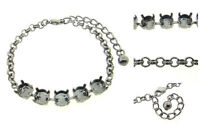 Premium European Empty 5 Box Bracelets Textured Rolo 8.5mm 3pcs - Choose Finish