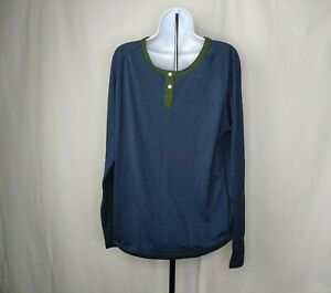 The-North-Face-Mens-Blue-Gray-Shirt-Size-Large-Long-Sleeve-Henley