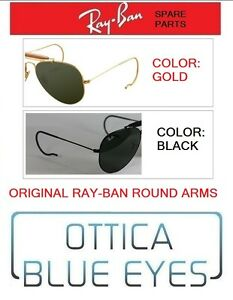 769afe2693de0 Replacement round Arms RayBan Aviator 3025 Ray Ban Spare parts FREE ...