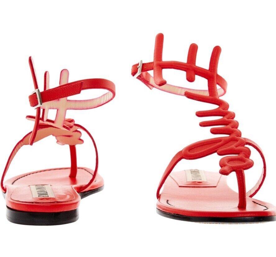 EMILIO PUCCI 10MM Nappa Leather Sandals UK 8 EU 41  | Qualität und Verbraucher an erster Stelle