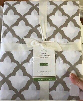 Pottery Barn Marlo Shower Curtain Yellow 72 Fretwork Geometric Moroccan Marlow