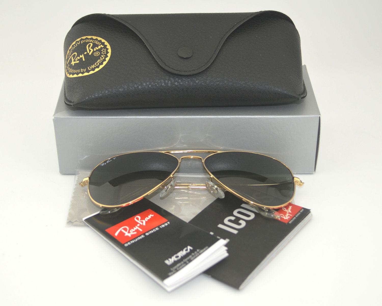 6e13e18efa Ray-Ban Aviator Classic Polarized Gold Sunglasses for sale online