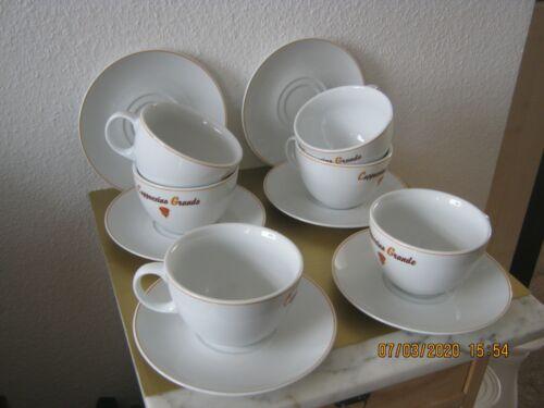 6 x Cappuccinotassen Milchkaffee Tassen Grande Unterteller von Seltmann Weiden