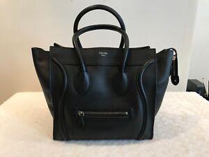 6b042a47f7d5 Image is loading Celine-Mini-Luggage-Tote-Bag-Black