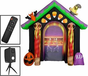 Gemmy-Inflatable-Halloween-Archway-Living-Projection-Projector-Haunted-House-NEW