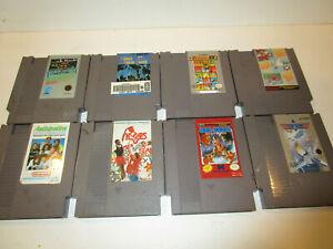NES-GAME-LOT-8-Diff-GENUINE-Original-Nintendo-Entertainment-System-Cartridges