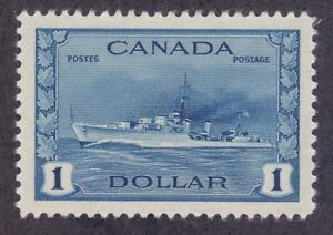 Canada-262-Mint-1942-1-Destroyer-XF-Scv-65-00