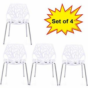 Strange Details About Modern Dining Chairs Set Of 4 White Chairs Kid Friendly Birch Chairs Ibusinesslaw Wood Chair Design Ideas Ibusinesslaworg