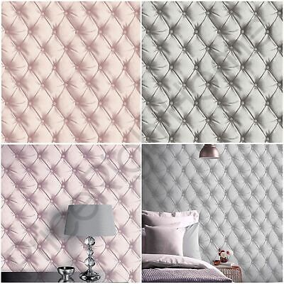 DESIRE CHESTERFIELD LEATHER EFFECT WALLPAPER BLUSH PINK ARTHOUSE 618103 NEW