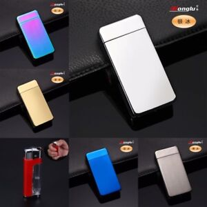 USB Electric Dual Arc Metal Flameless Torch Rechargeable Windproof Lighter SE3