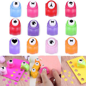 1PC Kids Children Small Card Shaper Punch Toys 26 Styles Creative DIY Gift