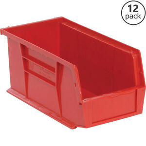 12 Pack Stackable Plastic Storage Containers Pantry Shop Garage
