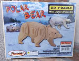 Wood-3D-Polar-Bear-Puzzle-46-pieces-9-x-3-x-4-inches-fun-wood-project
