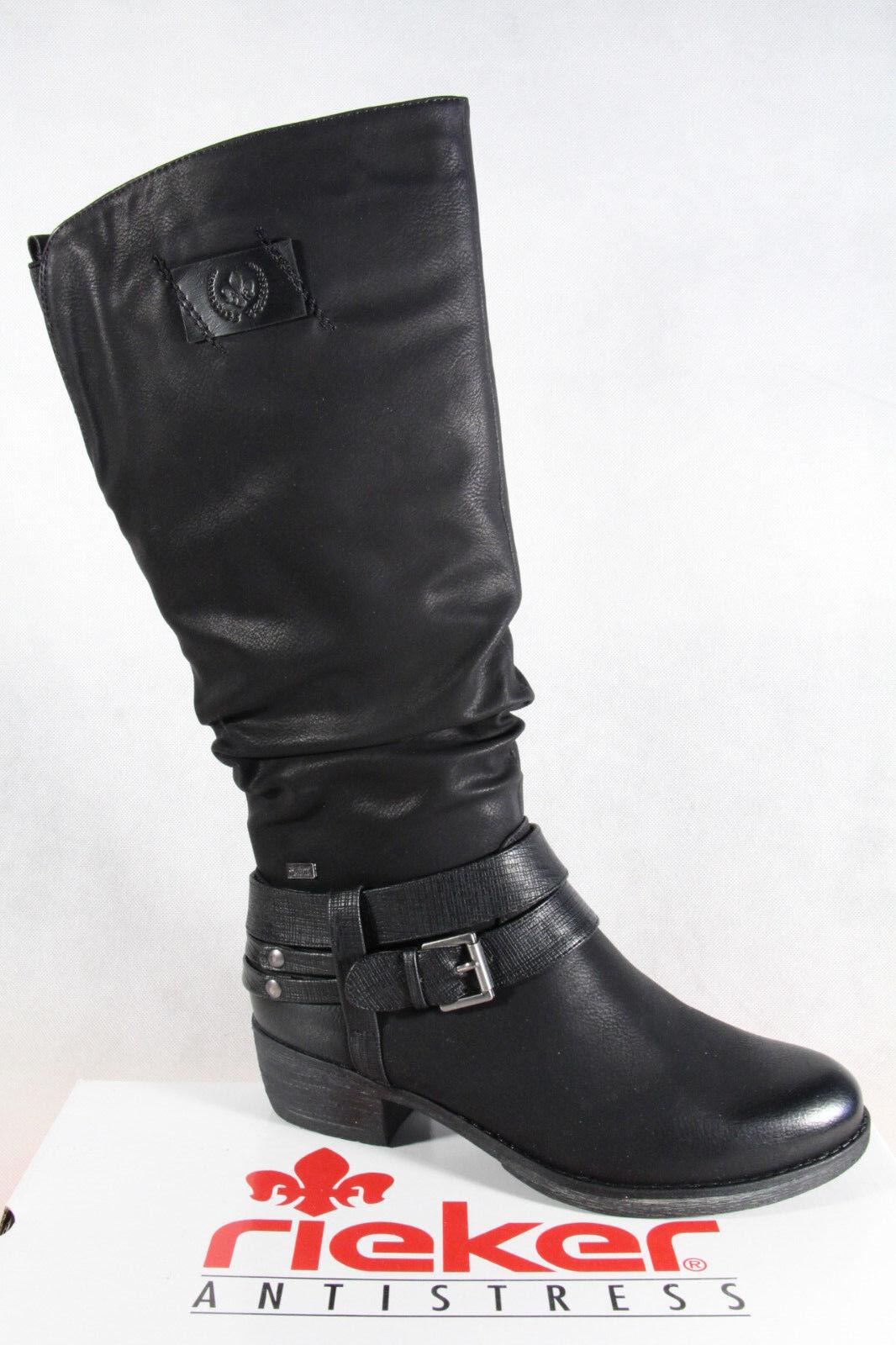 Grandes zapatos con descuento Rieker-Tex Botas Mujer Botines Negro Forro Cálido 93158 Nuevo