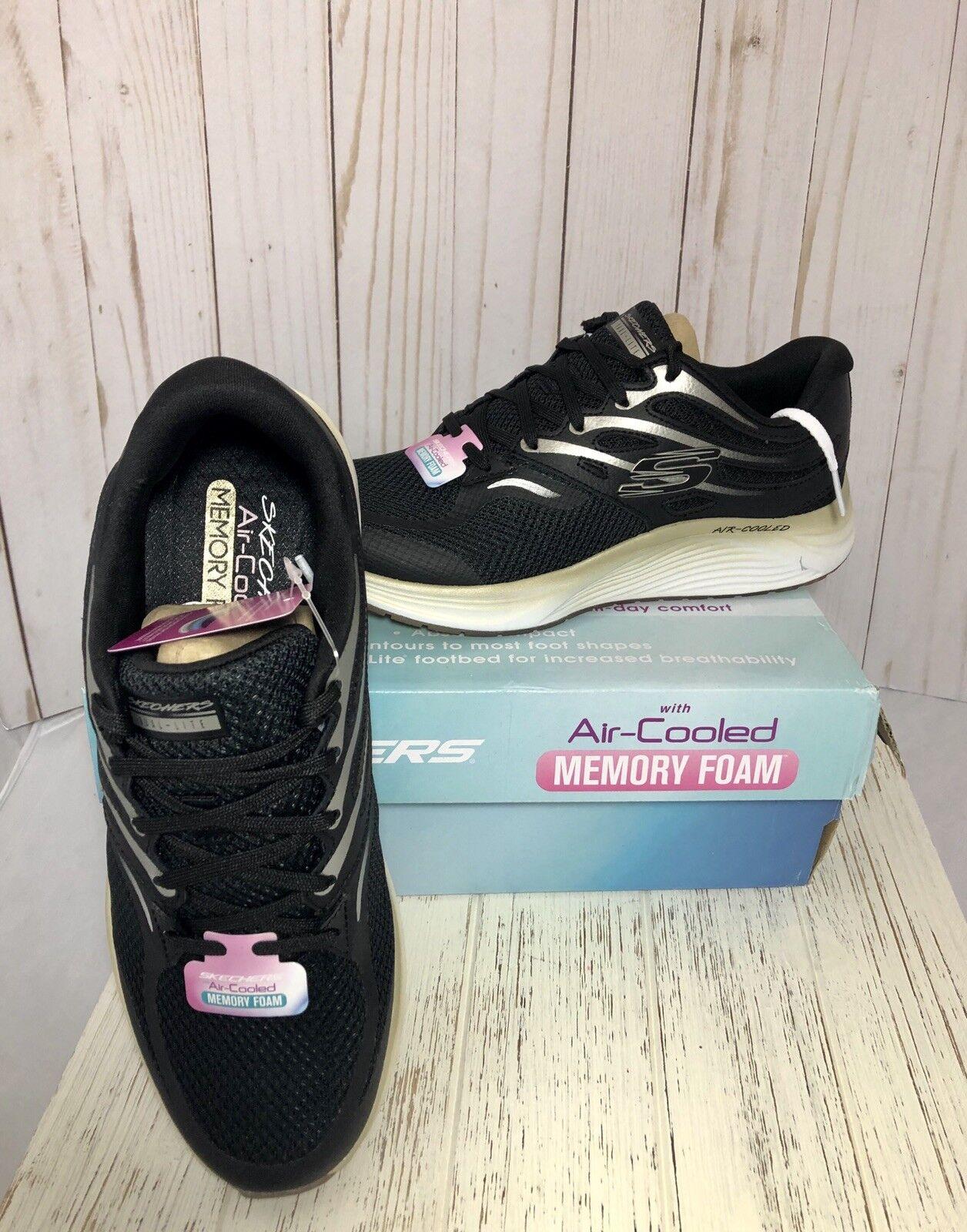 Skechers Femme Skyline Turnchaussures 8.5 noir OR New in Box