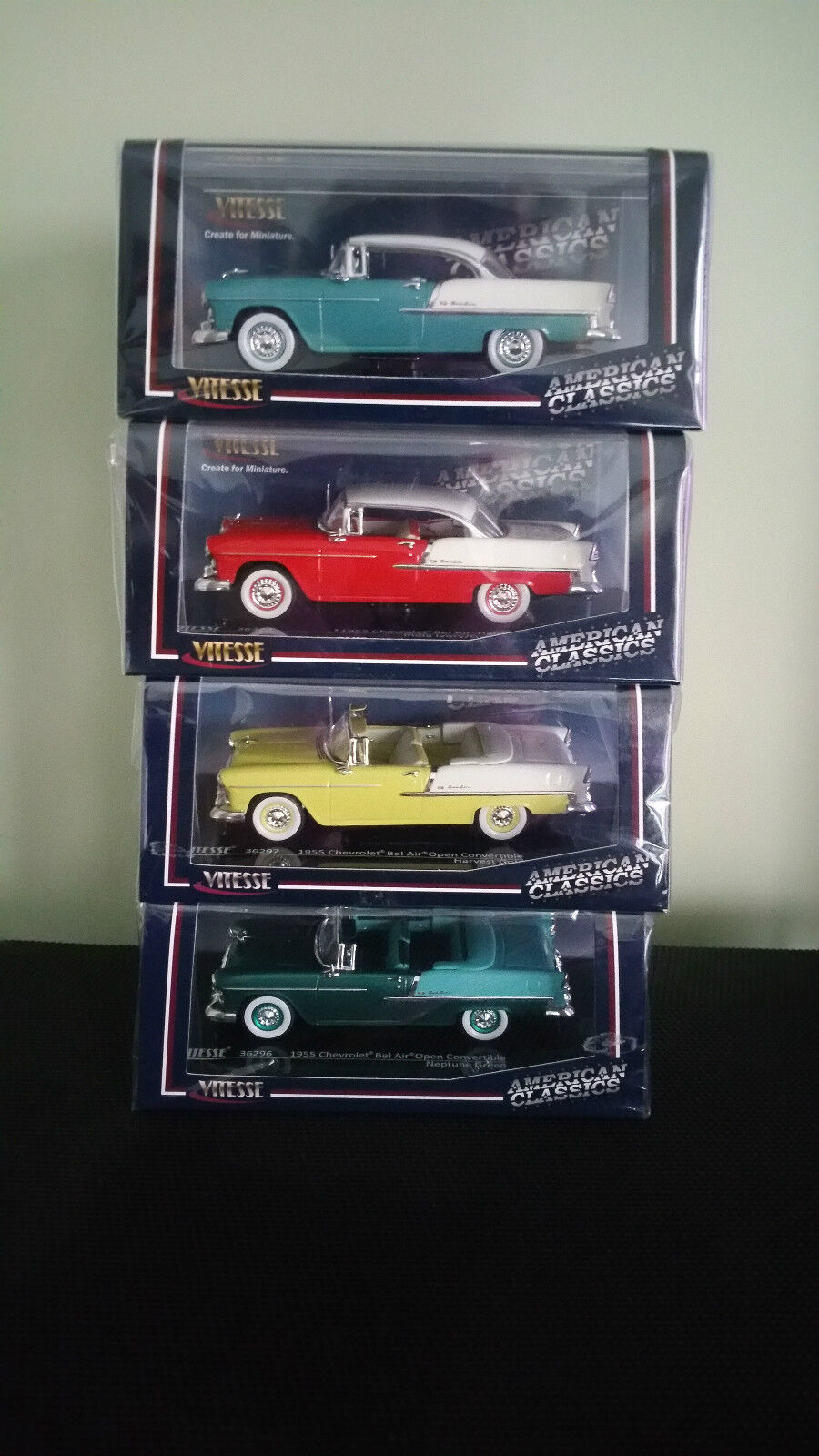 Chevrolet 1955 Bel Air 1 43 (Sealed) Vitesse 4 Model Set