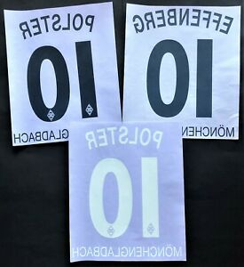 KIT NOME+NUMERO UFFICIALE B.MONCHENGLANBACK HOME/AWAY 1997-1998 OFFICIAL NAMESET