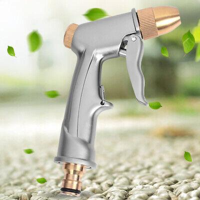 High Pressure Water Spray Gun Brass Nozzle Garden Hose Pipe Lawn Car Wash Clean