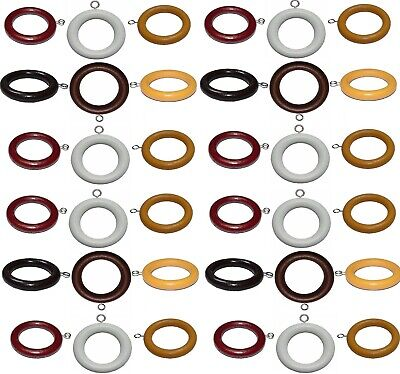 Quality Wood Wooden Curtain Pole Rod Spare Rings Hanging Hooks 3 Sizes 6 Colors Materialen Van Hoge Kwaliteit