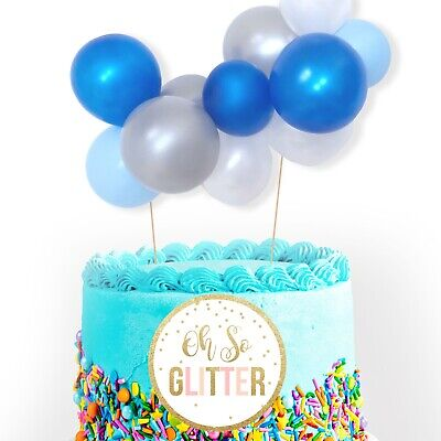 Fantastic Balloon Cake Topper Garland Mini Blue Silver Baby Boy Birthday Personalised Birthday Cards Paralily Jamesorg