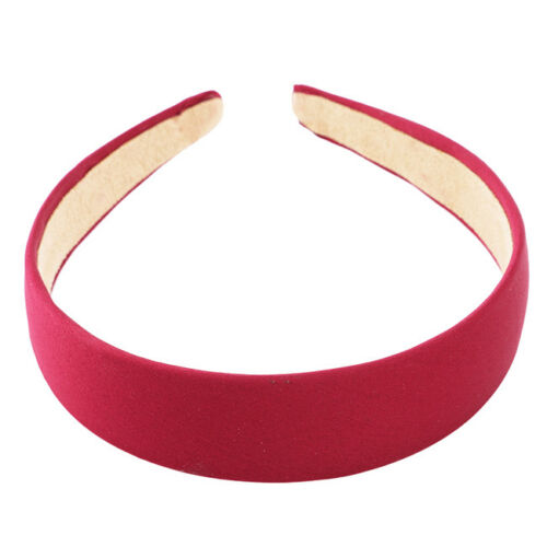 7 Colors Simple Wide Burgundy Red Satin Fabric With Cloth Style Headband CS