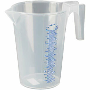 Pressol 07062 Measuring Jug 1L Polypropylene - Transparent - Tracked 48 Postage